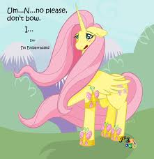 princess fluttershy is embarrased
