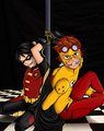 robin and wally tied up