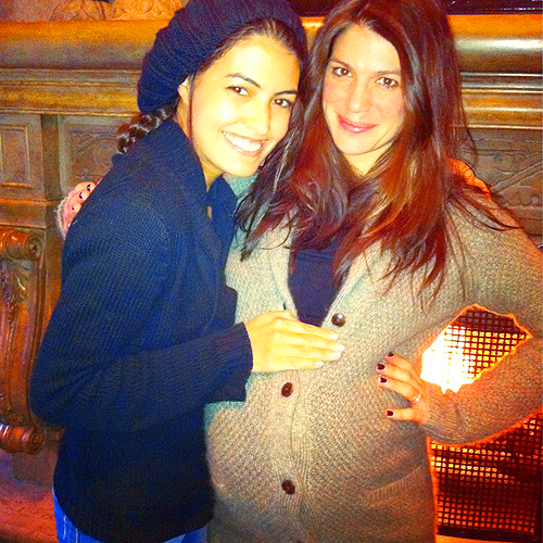 Jared Padalecki & Genevieve Cortese 壁紙 probably with an outerwear entitled ☆ Baby bump