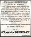 #BieberBlast