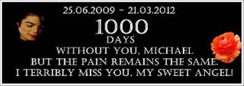 1000 DAYS WITHOUT MJ T__T