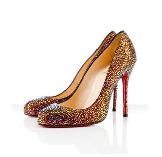 100mm rhinestone high heels