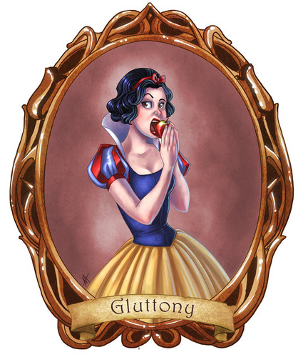 7 Disney Sins: Gluttony - disney-princess Fan Art
