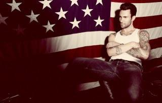 Adam Levine wallpaper probably containing a drawing room, a couch, and a living room titled Adam <3