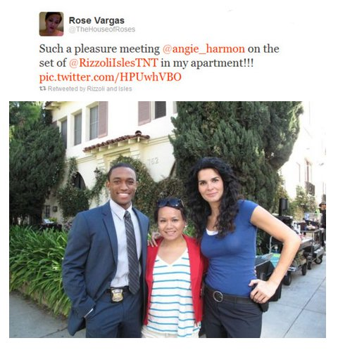 Angie and Lee meeting a fan