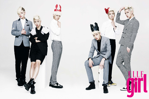 B.A.P 바탕화면 with a well dressed person entitled B.A.P Elle Girl Photoshoot