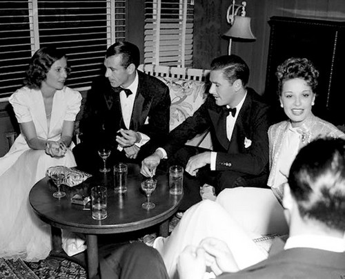 Barbara Stanwyck, Gary Cooper, Errol Flynn & Lili Damita  - classic-movies Photo