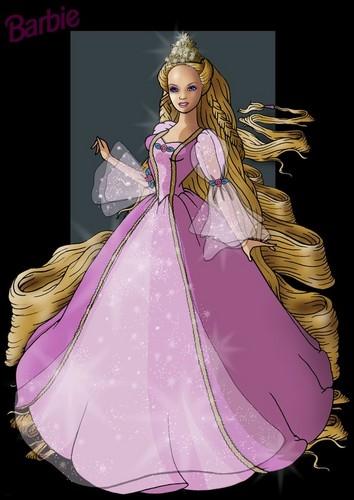 barbie as Rapunzel fanart