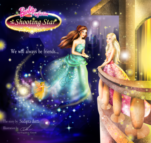 Barbie فلمیں پیپر وال entitled (Art-CG) Barbie the shooting سٹار, ستارہ - from chlira's fanfiction