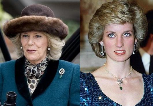 Camilla Wears Princess Diana's Diamond