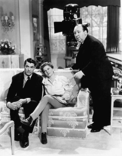 Cary Grant, Ingrid Bergman & Alfred Hitchcock