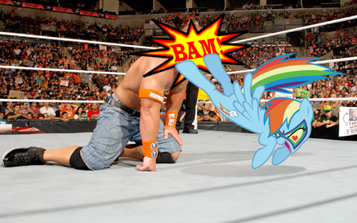 WWE wallpaper entitled Cena got owned by Rainbow Dash