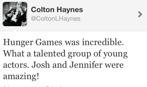 Colton Haynes about THG