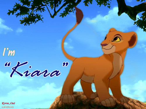 Cute Young Kiara Cub 壁纸 Lion King
