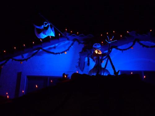 disney Jack Skellington and zero halloween display