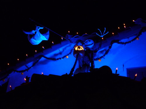 Disney Jack Skellington and zero halloween display