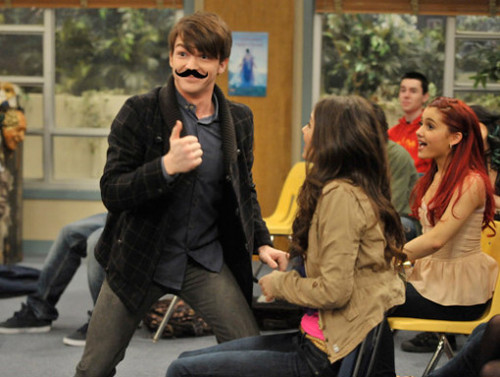 Victorious wallpaper with a business suit and a well dressed person titled Drake Bell on Victorious!