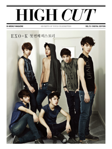 EXO-K @ HIGH CUT IPAD APP SCANS