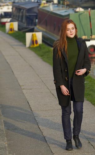 Elle Fanning filming 'Bomb' in London