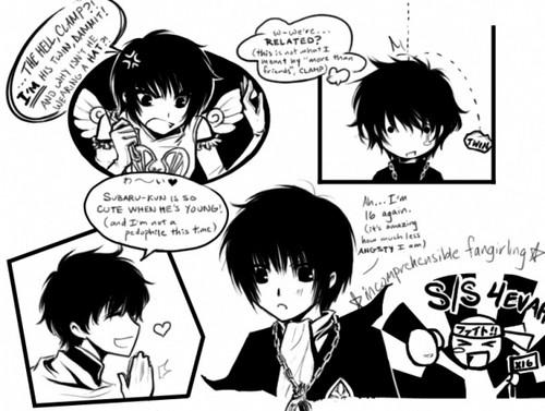 Hokuto, Kamui, Subaru and Seishirou (Tsubasa Tokyo Revelations) lol:-)))