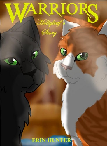 Warriors (Novel Series) Hintergrund with Anime called Hollyleaf's Story Fan book cover