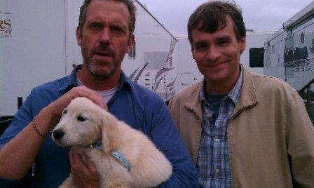 Hugh Laurie and Robert S. Leonard -Set House MD