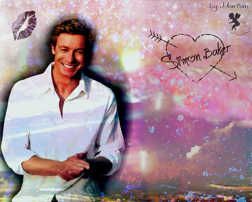 I love Simon Baker <3 - the-mentalist Wallpaper