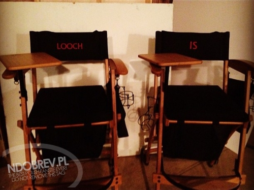 Ian and Nina Chair on Set TVD