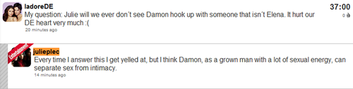 JP about Damon and Elena!