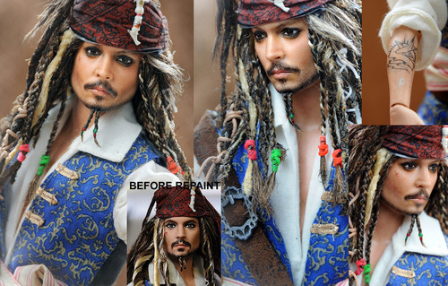 Jack Sparrow Doll Repaint