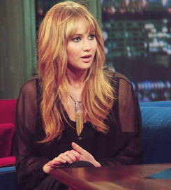 Jennifer Lawrence on Late Night with Jimmy Fallon