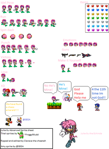 Julie-Su sprite sheet