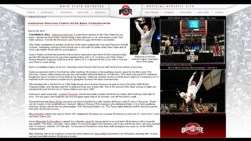 Ohio State Buckeyes fondo de pantalla called KATARZYNA DABROWA 2012 NATIONAL FENCING CHAMPION