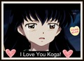 Kagome: I love koga - koga-and-kagome photo