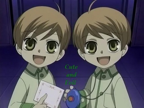 ouran high school host club wallpaper probably containing anime entitled Kaoru and Hikaru as kids