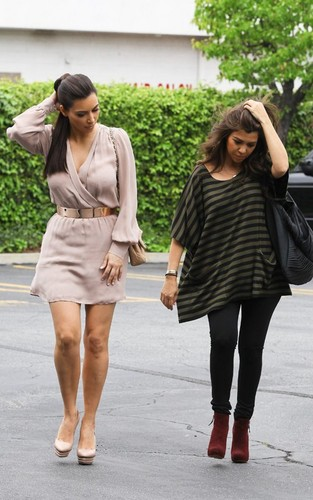 Kim Kardashian images Kim and Koutney in Woodland Hills HD wallpaper and background photos