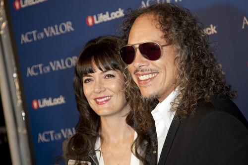 Kirk Hammett and Lani Hammett