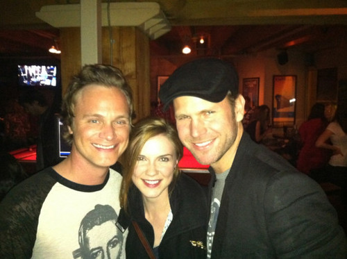 Matt Davis, David Anders and Sara Canning