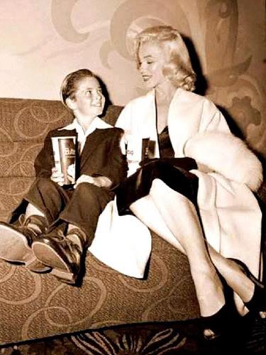 Marilyn Monroe & Tommy Rettig