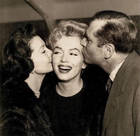 Marilyn Monroe, Vivien Leigh & Laurence Olivier
