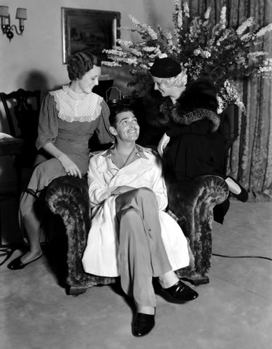 Mary Astor, Clark Gable & Jean Harlow