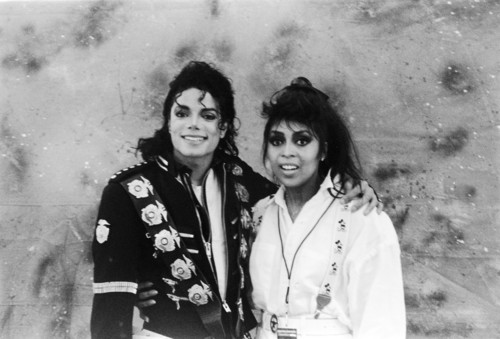 Michael Jackson wallpaper titled Michael Jackson and Diana Ross or Diana Ross's Sister idk