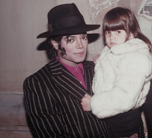Michael Jackson with a Fan