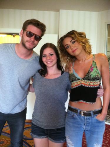 Miley, Liam & người hâm mộ