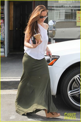 Minka Kelly wallpaper possibly containing a street, a carriageway, and a sign entitled Minka Kelly: Coffee Cutie