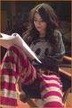 Miranda Cosgrove Practices Her Lines in Her PJs
