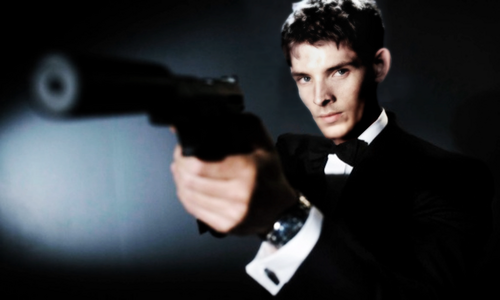Colin Morgan wallpaper containing a business suit and a suit titled Mr Bond...James Bond