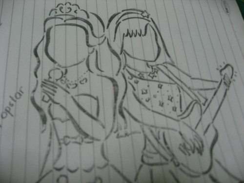 "My ""The Princess & The Popstar"" drawing"
