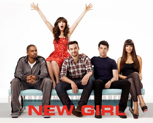 न्यू गर्ल वॉलपेपर possibly containing a park bench and a hip boot called New Girl (Pilot Cast) <3