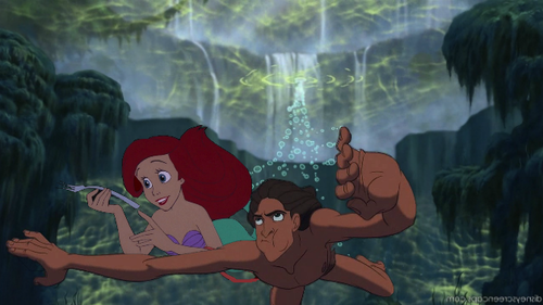 disney crossover achtergrond possibly containing a fontein titled No Piranhas In Africa
